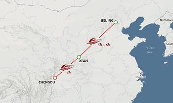 Beijing Xian Chengdu Tour Map