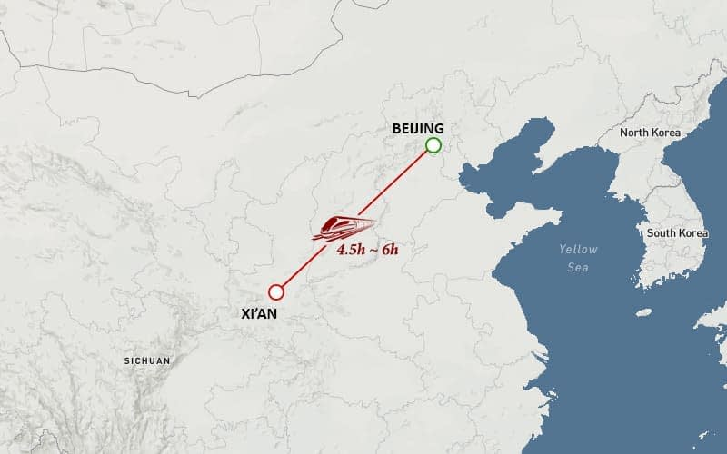 Beijin Xian Tour Map