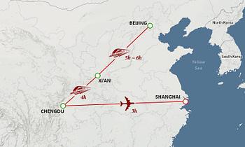 China Tour Map