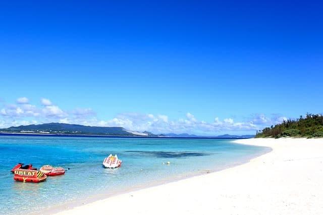 Okinawa Beach of Japan