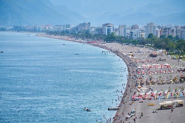 Antalya Beach in Turkey