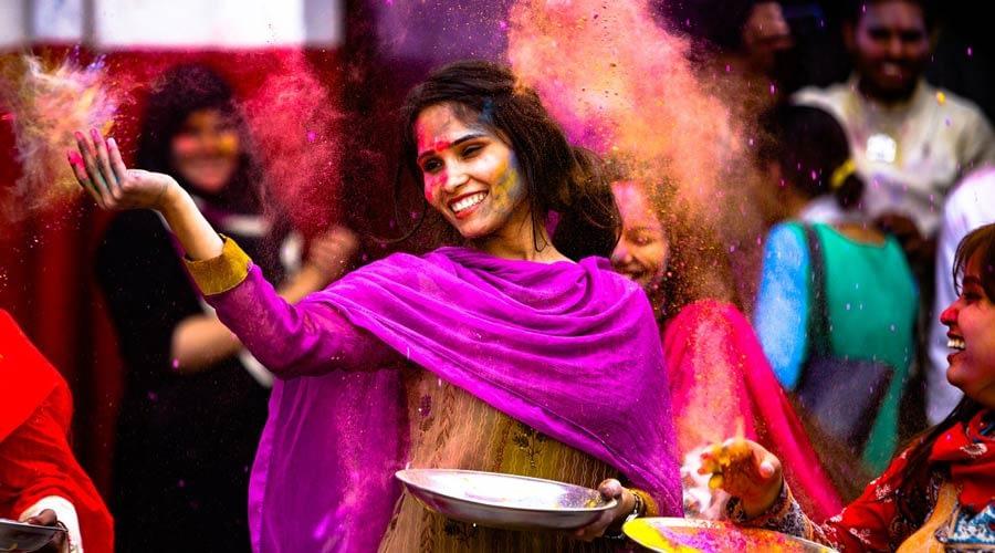 Holi holiday in India