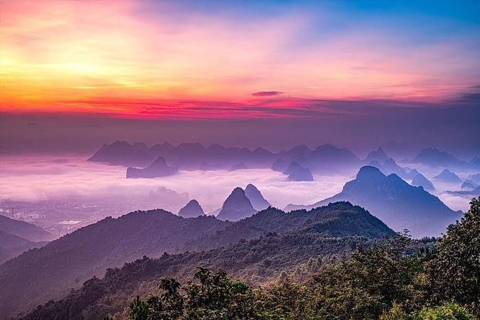 Beautiful Nature of Guilin, China
